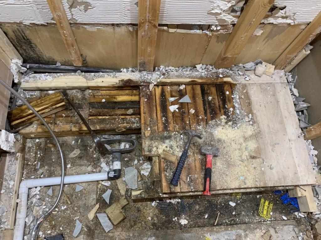 Water restoration under floor | 24 hour emergency plumber in Leighton Buzzard